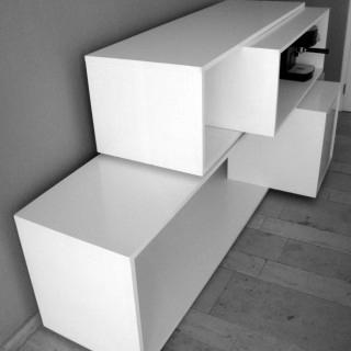 construction, bureau, mobilier, architecte, aménagement, blanc, rangement, design,