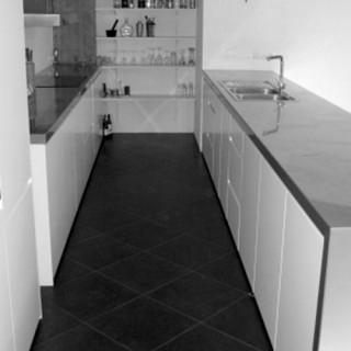 construction, cuisine, mobilier, architecte, aménagement, blanc, rangement, design,